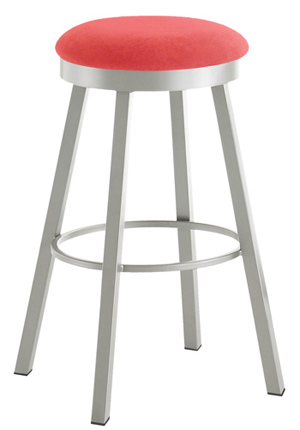 Upholstered Seat Perch Bar Stool