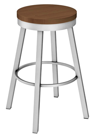 Wood Seat Perch Bar Stool