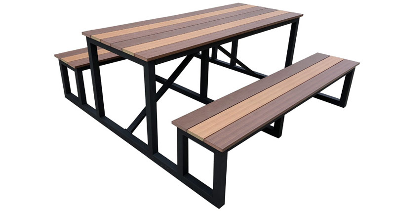 Picnic Table Steel Frame-Faux Wood