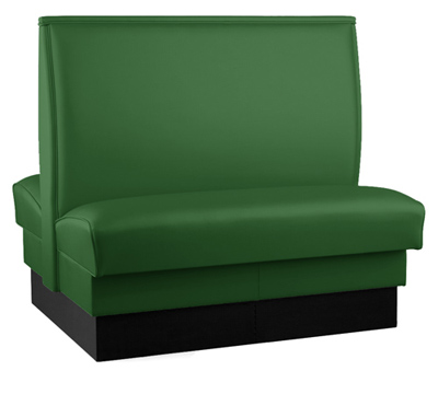 Plain Back Double Upholstered Booth
