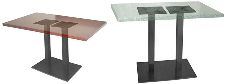 Rectangular Plate Steel Restaurant Table Bases