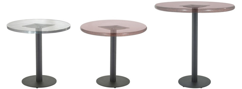 Round Bottom Plate Steel Restaurant Table Bases