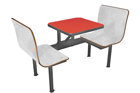Laminated Plastic Two Seat Restaurant Booth
