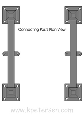 Portable Fencing Connecting Post Plan View
