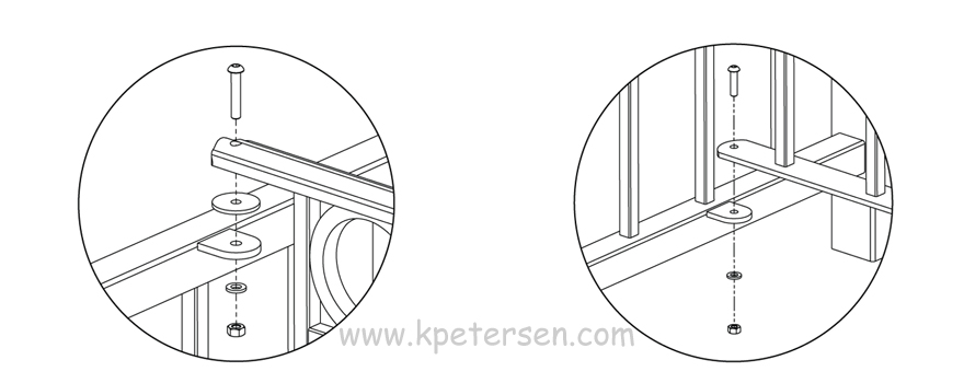 Upper And Lower Fencing Section To Post Connection Detail Drawings