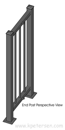 Portable Fencing End Post