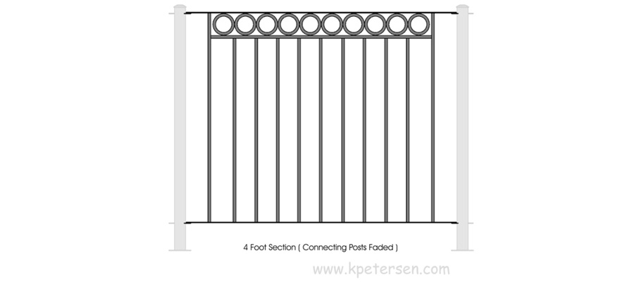 Portable Fencing Six Foot Section