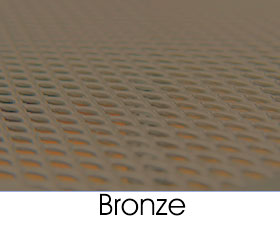 Bronze Metal Mesh Finish Selection