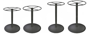 Spun Steel Table Bases