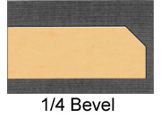 Powdercoated MDF Core Restaurant Table Top Edge Profile Option Bevel