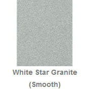 Powdercoated MDF Core Restaurant Table Top Color Option Polar White Star Granite