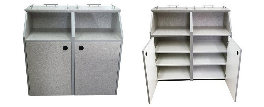 Matching Top Drop Style Storage and Condiment Cabinet