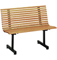 Oak Slat Seat Restaurant Bench