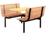 Slat Seat Oak Restaurant Booth
