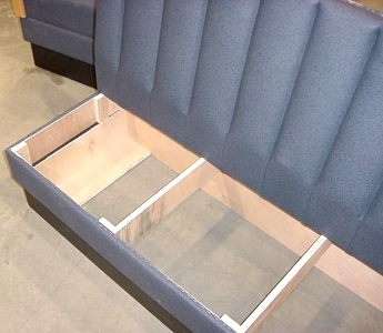 Upholstered restaurant booths faq 39 s removable seats for Restaurant booth building plans