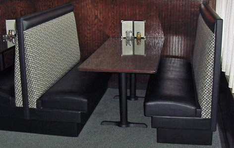 High Back Upholstered Restaurant Booths with Crumbrails