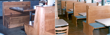 Wood Restaurant Booth Installations