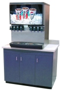 Fast food drink station cabinet