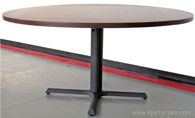 36 X 36 Budget Style Steel and Cast Iron Restaurant Table Base For Large Tables