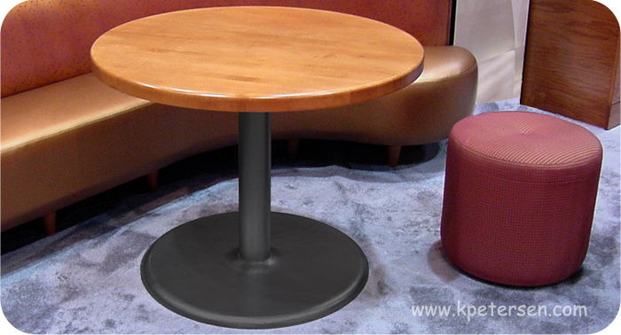 Budget Style Steel and Cast Iron Round Bottom Table Base