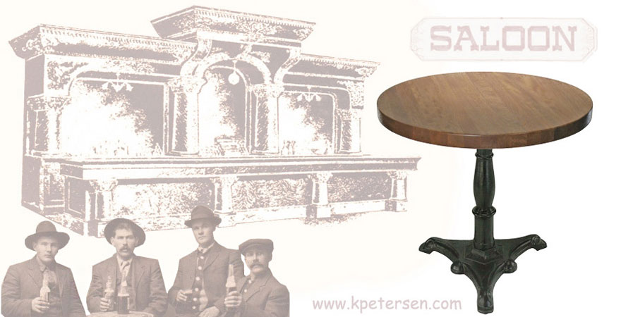 Ornate Cast Iron Saloon Table Base