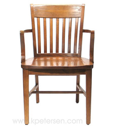 Oak Schoolhouse Armchair Front View