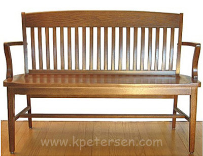 Schoolhouse Bench 52 Inch Bench Front View