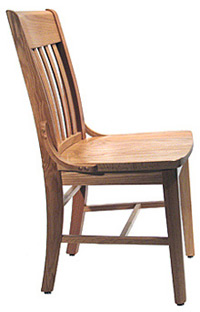Oak Schoolhouse Chair Side View