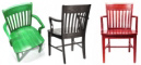 Oak Schoolhouse Arm Chairs Solid Colors