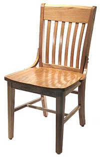 Oak Schoolhouse Chair Front-Side View