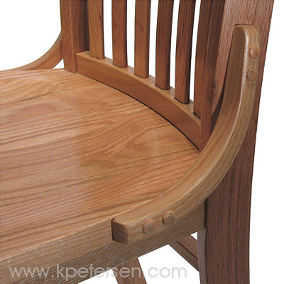 Schoolhouse Chair Side Support Detail