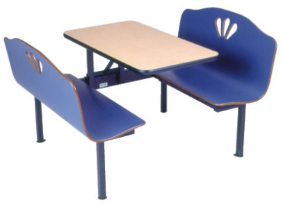 Deluxe Laminated Plastic Restaurant Booth Seating