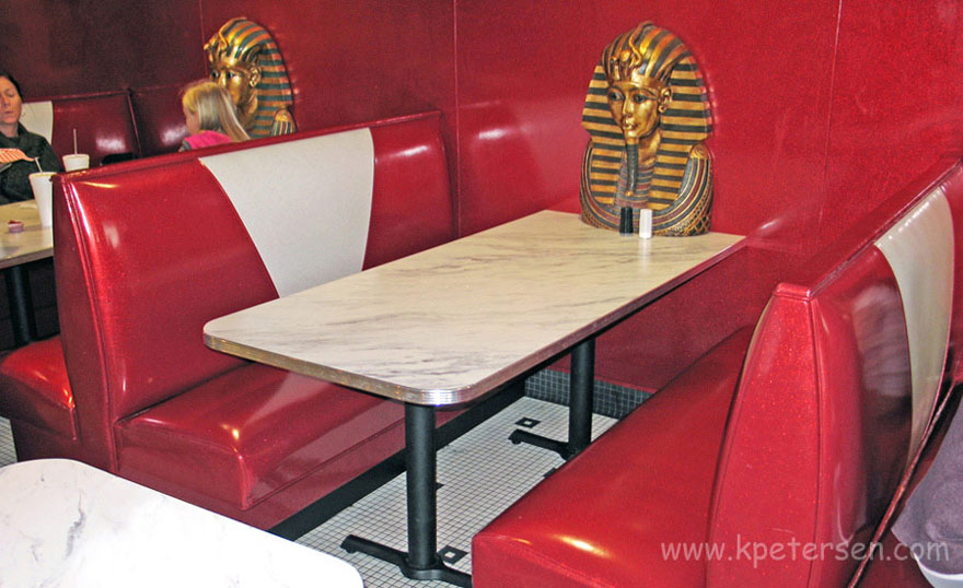 Six Seat Double Upholstered Booths