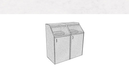 Slant Style Top Drop Waste Receptacles