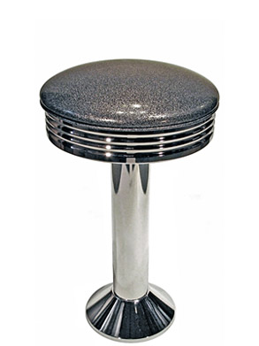 Soda Fountain Counter Stool With Chrome Ring Seat