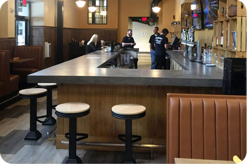 Western Style Drug Store Soda Fountain Counter Stools with Solid Oak Seats Installation