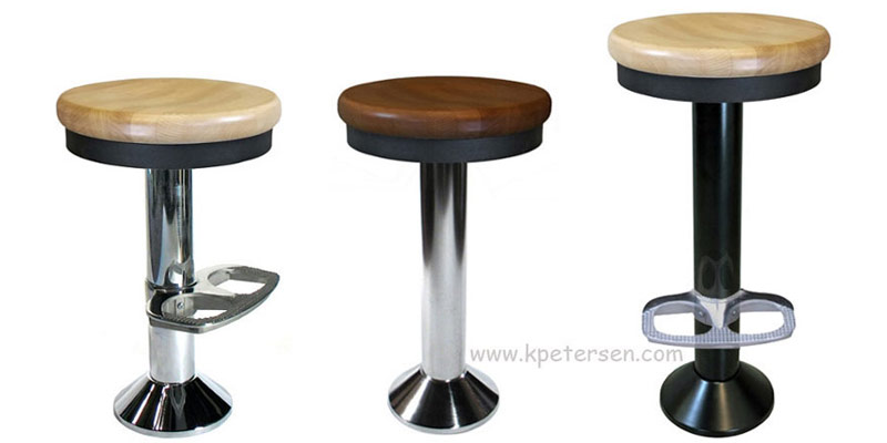 Counter Stools Available with Chrome Bases and Footrest