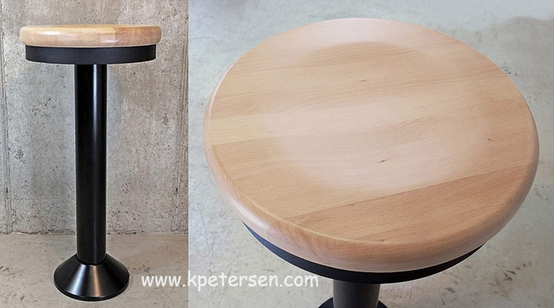 Soda Fountain Counter Stools with Solid Wood Seat