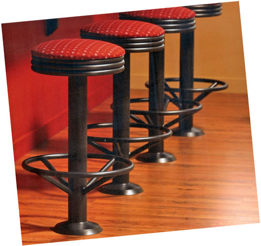 220 RSI Soda Fountain Bolt Down Counter Stool Installation
