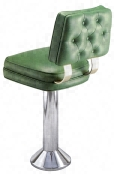 Soda Fountain Stool With Diamond Tufted Back Upholstery Treatment