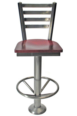 Ladderback style fast food counter stool