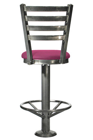 Ladderback style fast food counter stool - Rear View