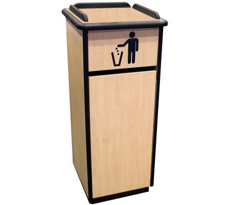 Space Saver Waste Receptacle Cabinet - Door Closed