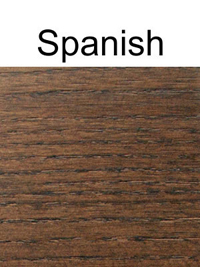 Solid Ash Restaurant Booth Spanish Finish Detail