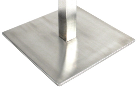 Square Stainless Steel Table Base Detail