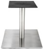 Large Square Bottom Stainless Steel Table Base with Four Inch Stainless Steel Column