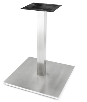 Square Stainless Steel Table Base with Stainless Steel Column