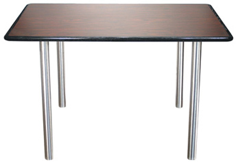 Stainless Steel Table Legs 2 Inch Diameter with Laminated Plastic Table Top