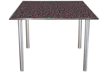 Stainless Steel Table Legs 2 Inch Diameter with Diner Table Top