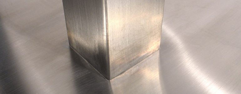 Square Stainless Steel Table Base and Column Detail